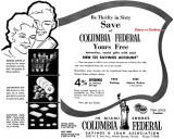 1960 - ad for Columbia Federal Savings and Loan Association in Miami Shores