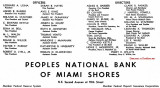 1960 - ad for Peoples National Bank of Miami Shores