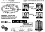 1960 - ad for Miami Beach Federal Savings & Loan Association's new Norwood branch opening