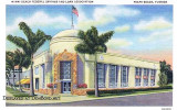 1940 - a postcard of Miami Beach Federal Savings and Loan Association's first main office on Miami Beach