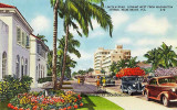 1940's - Lincoln Road, viewed to the west at Washington Avenue, Miami Beach