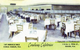 1960'a and 70's - Coralway Cafeterias postcard - two locations in the Miami area