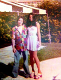 1973 - Lorri Levenson and her friend Jeff Katz on Miami Beach