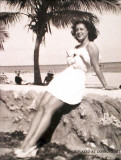 Early 1950's - Lorri Levenson's mom Lynne Levenson on Miami Beach