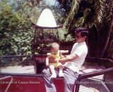 1968 - Carlos Heredia with his dad Jose Heredia at one of the bird cages at the Crandon Park Zoo which many of us loved