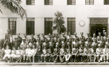 Late 1940's - employees and officers of the Miami Beach Police Department - left side of image