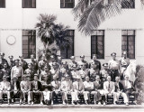 Late 1940's - employees and officers of the Miami Beach Police Department - right side of image