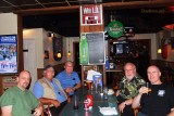 January 2012 - Dave Hartman, Eddy Gual, Don Boyd, Tim Williams and Joe Pries after dinner and brews at Bryson's Irish Pub