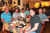 January 2012 - Don Boyd, Mark Durbin, Ben Wang, Conan Schleicher, Marc Hookerman, Joe Pries and Kev Cook at Suvi Thai & Sushi