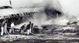1959 - Eastern Air Lines Lockheed L-1049G Constellation N6240G crash landing at Miami International Airport after airborne fire
