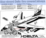 1962 - advertisement for Delta Air Lines' new Jetways at Miami International Airport