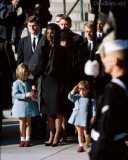 JFK's funeral with his son John Jr. saluting his coffin before it was transported to Arlington National Cemetery for burial