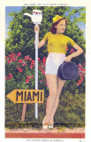 1940 - postcard promoting Miami - Come join us in Miami, Florida, the winter resort of America