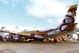 1979 - Ecuatoriana B720-023B HC-AZP on Concourse F at Miami International Airport