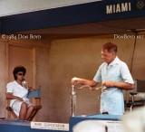 1984 - the legendary Bill Haast giving a snake venom extraction demonstration at the Miami Serpentarium