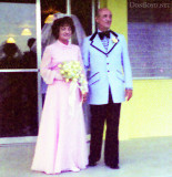 Late 1970's - my buddy Bob's father Fred Zimmerman and his bride at his wedding in Hialeah