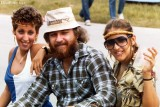 1981 - Bob Zimmerman and a couple of ladies attending the Stones concert in Orlando