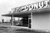 1966 - Hurricane damage at the Mister Donut with the Palm Springs Publix in the background on Palm Springs Mile