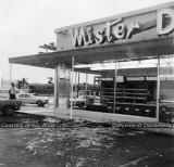 1966 - Hurricane damage at the Mister Donut on Palm Springs Mile