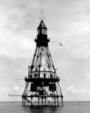 1930's - Fowey Rocks Lighthouse where Hamilton Hamp Sharpe Perry served as lighthouse keeper