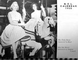 1958 - Miss Patty Boone and Miss Ida Morris on the Coral Gables High Calendar
