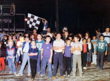 Early 1980s - lots of young race fans at Hialeah Speedway