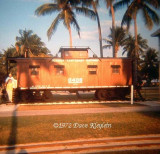 1972 - the Florida East Coast Railway caboose on display at Crandon Park, Key Biscayne