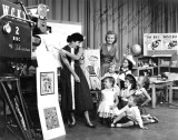 1957 - Miss Iris Maxwell with my future wife Karen Criswell and her brother Jim on WCKT-TV Channel 7's Romper Room