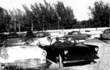 Late 50's - Chick Gagen in his '55 white T-Bird, George Young and Gil Acosta in Gil's '55 T-Bird