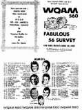 1965 - the April 10th weekly WQAM-560AM Top 56 music survey