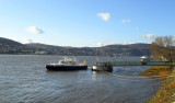 MOORED POLICE LAUNCH