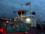 LEAVING RUDESHEIM ON THE RIVER FERRY