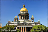 St. Isaac's Cathedral or Isaakievskiy Sobor with 200 pounds of gold on its dome