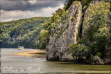 Scene on a ferry ride along the Danube Gorge, the river's narrowest and deepest stretch
