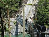 Suspension Bridge over Blue Pools (0532X)