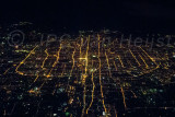 Beijing at night, from 11km altitude
