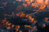 The French Alps at sunset