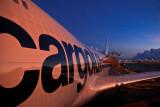 Sunrise over the cargo apron