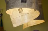 Newspaper lamps...