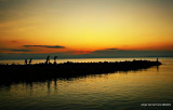 Sunrise in Baywalk, Davao