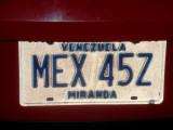 License Plate in Venezuela.jpg