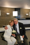 Moshe and Orna: waiting to sign official papers and for their wedding ceremony at the City Clerk's Marriage Bureau in Manhattan