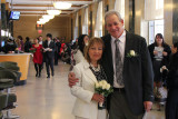 Moshe and Orna before their wedding ceremony at the City Clerk's Marriage Bureau in Manhattan