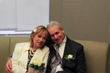 Orna and Moshe before their wedding ceremony at the City Clerk's Marriage Bureau in Manhattan