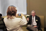 Orna enjoyed photographing Moshe with flowers before their wedding ceremony at the City Clerk's Marriage Bureau in Manhattan :-)