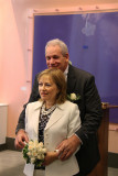 Orna and Moshe in the room where their wedding ceremony took place - at the City Clerk's Marriage Bureau in Manhattan