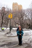Moshe and Orna in Central Park in Manhattan - continuing to celebrate their marriage.