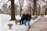 Orna and Moshe in Central Park in Manhattan - continuing to celebrate their marriage.