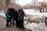 Orna, Moshe, Judy and Richard in Central Park in Manhattan - continuing to celebrate the marriage of Moshe and Orna