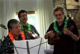 John, John & Richard serenade Diane (Administrative Assistant) at her retirement party